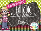 ~* Daily Schedule Cards -Chalkboard *EDITABLE*`