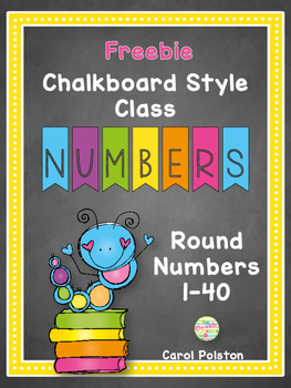Chalkboard Small Student Numbers **FREE**