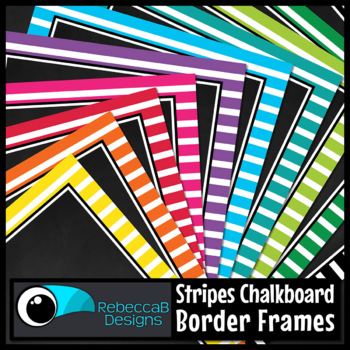Framed Chalkboard Clip Art (Stripes)