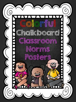 Chalkboard Style Classroom Norms- Printable Posters