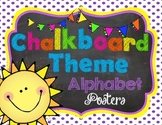 Chalkboard Theme Alphabet Posters