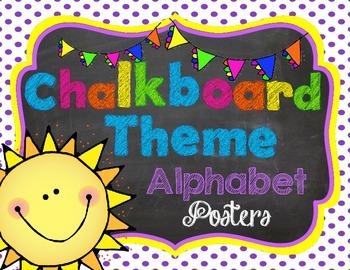 Chalkboard Theme Alphabet Posters