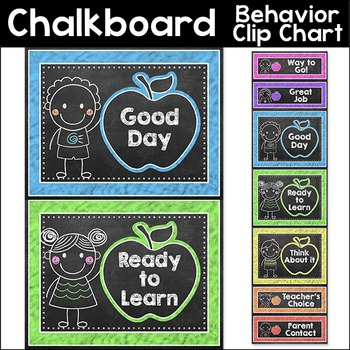 Chalkboard Theme Behavior Clip Chart