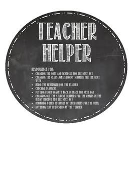 Chalkboard EDITABLE Theme Class Jobs