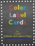 Chalkboard Theme Color Label Cards