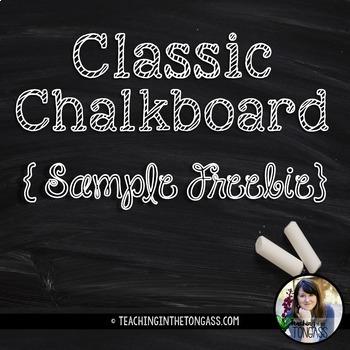 EDITABLE Chalkboard Desk Nametags Free