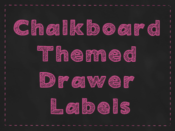 Chalkboard Themed Drawer Labels