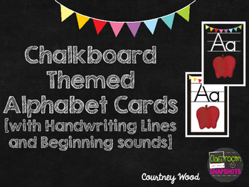 Chalkboard Themed Letter Cards with Handwriting Lines & Be