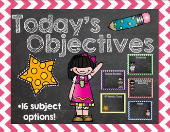 Chalkboard Themed Objectives