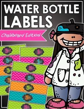 Chalkboard Water Bottle Labels