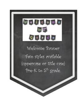 Chalkboard Welcome Banner