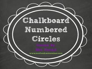 Chalkboard & White Library Bin Number Circles