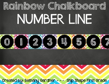 Chalk it Up! Rainbow Chalkboard Number Cards 0-200
