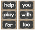 Chalkboard and Burlap Word Wall Cards and Headers