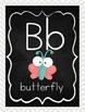 Chalkboard and Chevron Alphabet Line: Print Cute Animals