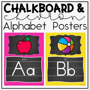 Alphabet Posters and Bunting {Chalkboard and Chevron Class