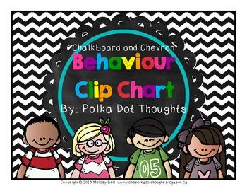Chalkboard and Chevron Behaviour Clip Chart