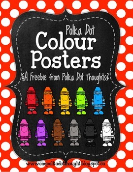 Chalkboard and Polka Dot Colour Posters {Freebie}