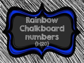 Chalkboard {number chart 1-120}