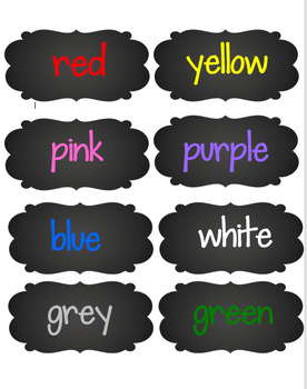 Color Names Posters {Chalkboard Theme}