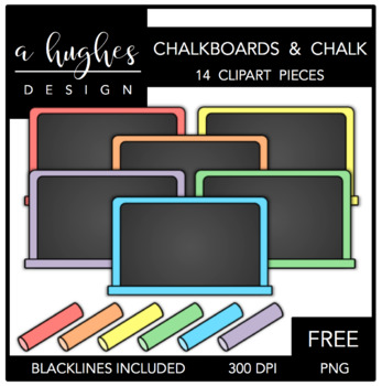 FREE Chalkboards & Chalk {Graphics for Commercial Use}