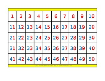 Free Alphabet & Number Grid Charts (Primary)