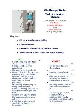 Challenge Task #4 - Making Change