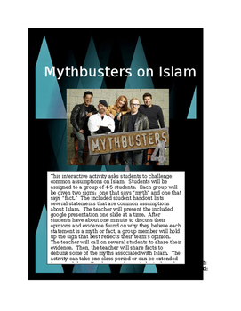 Challenging Assumptions about Islam:  Mythbusters Common C