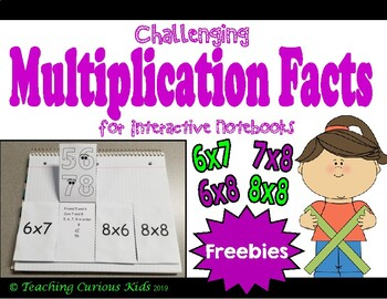 Challenging Multiplication Facts Flip Chart