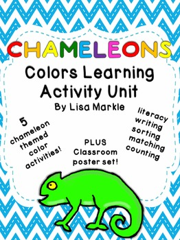 Chameleons Color Recognition Activity Pack for Preschool