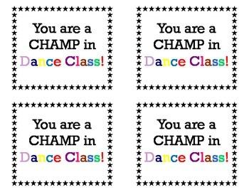 Champ in Dance Class!