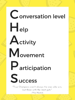 Champs Classroom Management Poster
