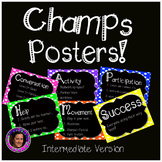 Champs Posters Intermediate Version Rainbow Polka Dot Chal
