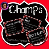 Champs Posters Red & Black Chevron Theme (Intermediate Version)