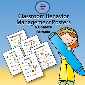 Posters for Classroom Behavior Management