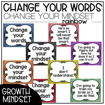 Change Your Words, Change Your Mindset Posters {Chalk Bundle}