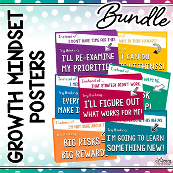 Growth Mindset Posters: Change Your Words, Change Your Mindset
