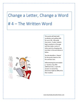 Change a Letter, Change a word