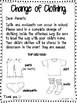 Change of Clothing Parent Letter {FREEBIE}