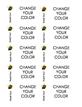 Change your color tickets
