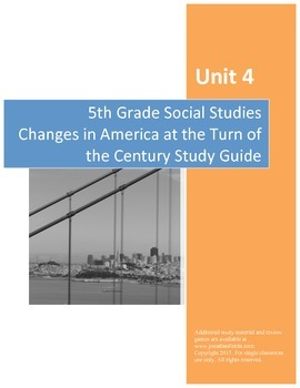 Changes at the Turn of the Century Study Guide--Fifth Grad