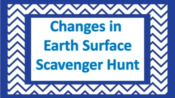 Changes in Earth's Surface Scavenger Hunt