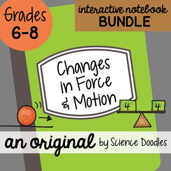 Changes in Force & Motion Science Doodles Interactive Note