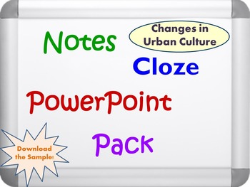 Changes in Urban Culture Pack (PPT, DOC, PDF)