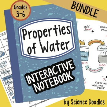 Properties of Water Interactive Notebook BUNDLE by Science