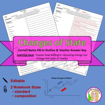 Changes of State Cornell Notes #30