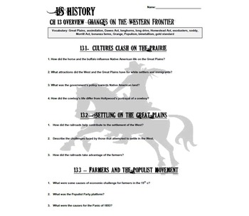 Changes on the Western Frontier Chapter Overview