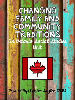 Changing Family and Community Traditions - Ontario Grade 2