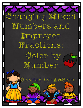 Changing Improper Fractions and Mixed Numbers Differentiat