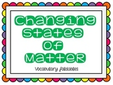 Changing States of Matter Foldable